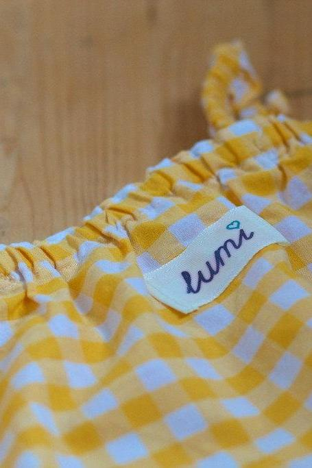 Lumi Girls Gingham Tunic - Dress