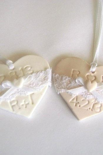 Laced Wedding Favor Tag. Initials Favor Tag. Set of 10. Made-to-Order