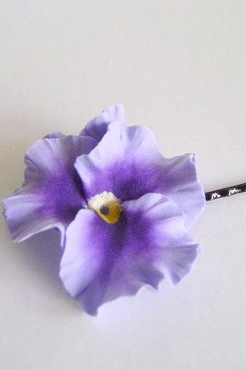 Wedding Hair Fascinator. Purple Pansy Hair Pin. Bridal/Bridesmaid/Flower Girl Hair Pin
