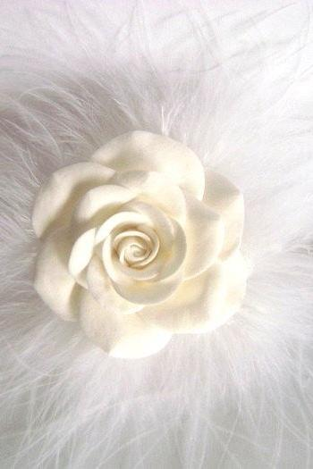 Flower Girl Rose Hair Pin. Wedding Accessories
