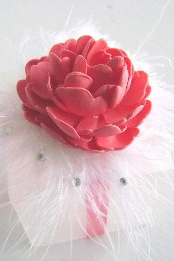 Wedding Favor Box - Coral Pink Favor Box