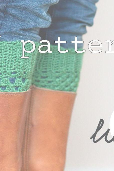 PDF Crochet PATTERN Boot Cuffs