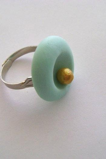 Handmade Adjustable Clay Ring