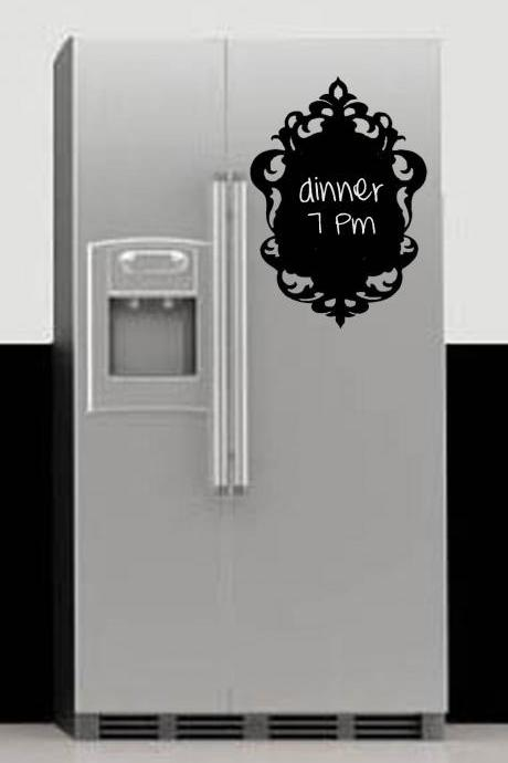 Ornate Chalkboard Vinyl Decal