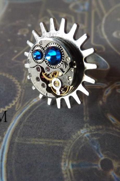 Oceans Rising Steampunk Ring - Steampunk Jewelry by Steamretro