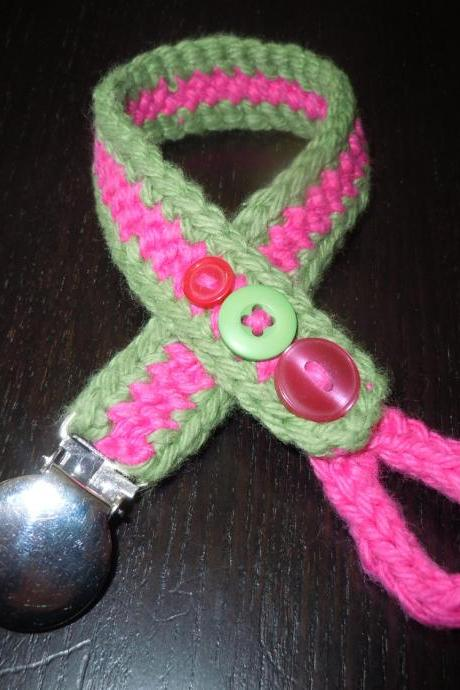 Knit and Crochet Pacifier Holder