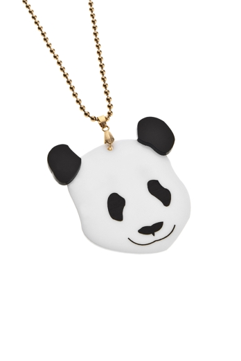 Panda Necklace,Plexiglass Kawaii Necklace,Lasercut Acrylic,Gifts Under 25