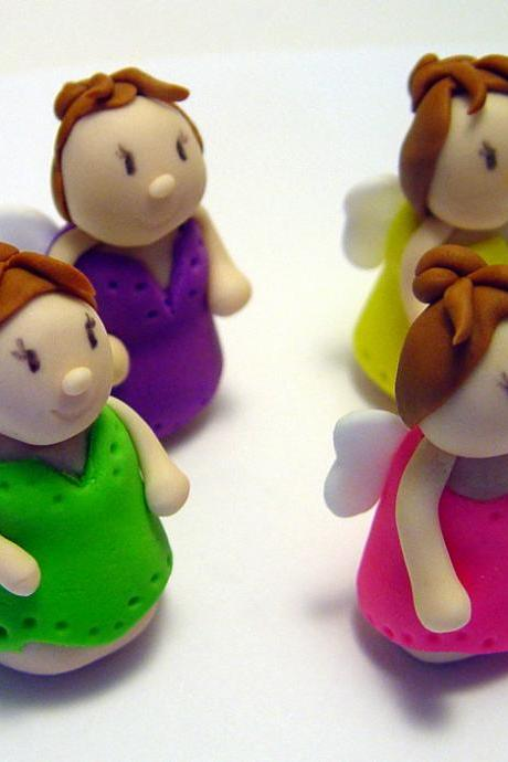 12 Fondant Fairy Cupcake Toppers
