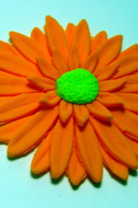 12 Fondant Gerber Daisy Cake/Cupcake Toppers