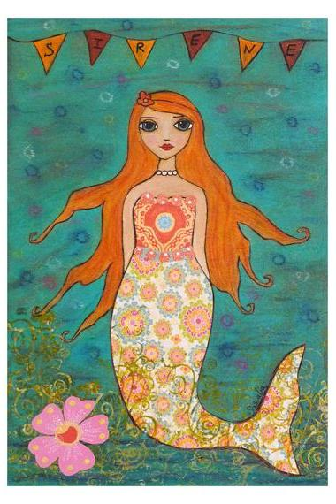 Art Print - Whimsical Mermaid
