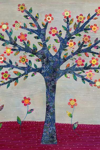 Art Pint - Whimsical Flower Tree