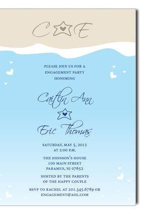 DIGITAL FILE ONLY - Ocean Beach Digital Invitation