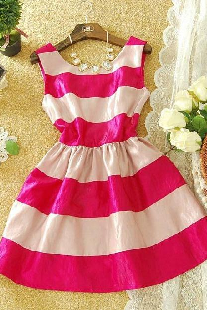 Sexy sweet striped dress-887 A 072903