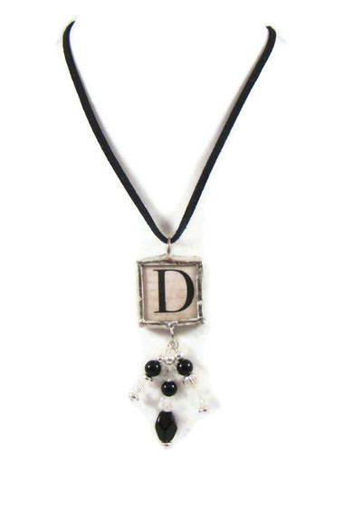 Necklace, Soldered Letter D Pendant Necklace - One Can Be PERSONALIZED FOR YOU