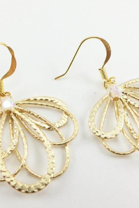 Gold Earrings Gold Jewelry Earrings Dangle Earrings
