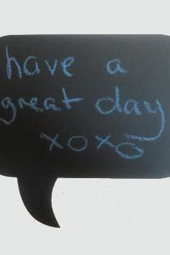 Speech Bubble Chalkboard Vinyl Decal