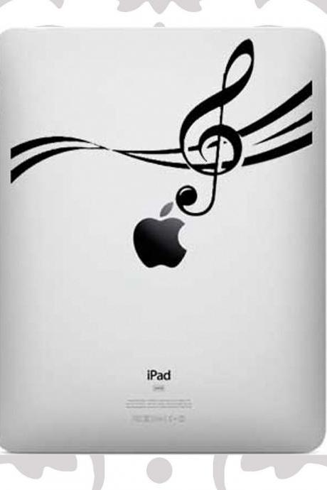 Ipad decal - music notes UK WAB Team
