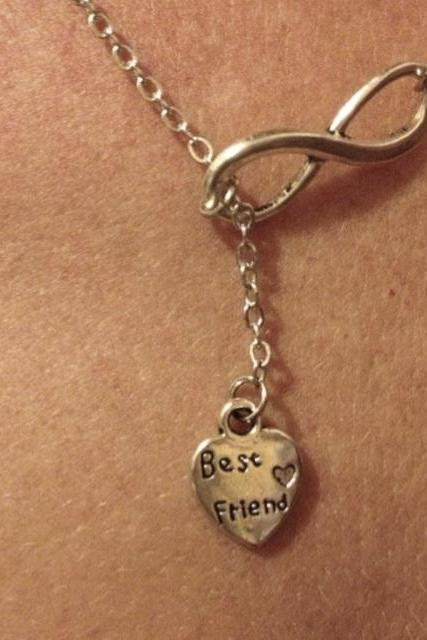 Best Friends Forever Drop Necklace
