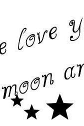 We love you to the moon and back vinyl decal for Nursery - UK Seller