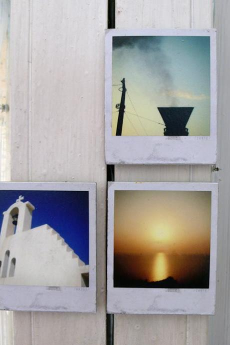 Polaroid Magnets / Memories In Greek Colors - Make A Set of Four