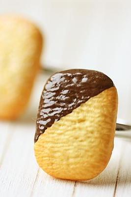 Food Jewelry - Danish Cookie Ring - Chocolate OR Sugar