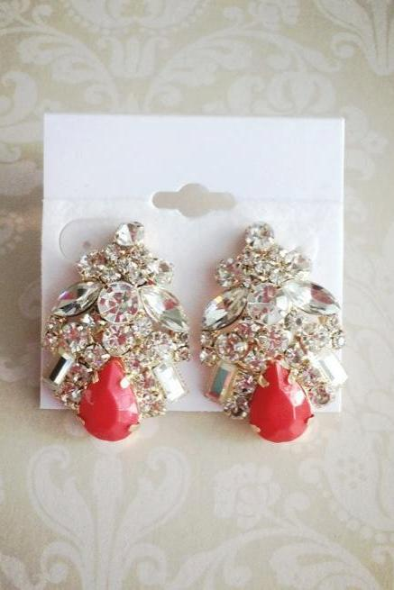 Formal Glitz Statement Earrings