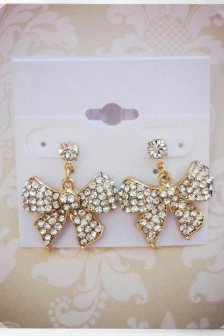Emma Sparkle Bow Earrings