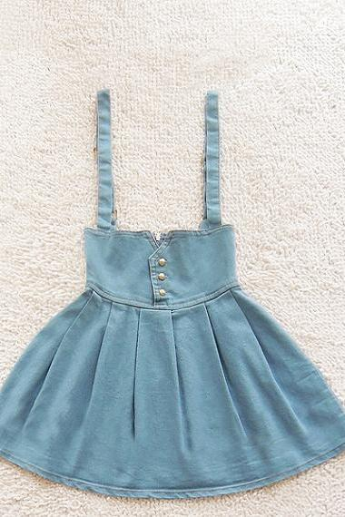 High waist retro fashion denim skirt tutu-2343 A 082705