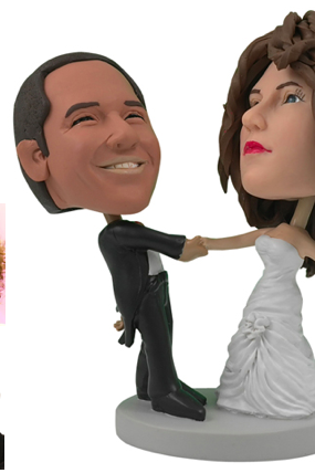 Personalized Wedding Cake Topper of a Couple Ballroom Dancing, a Cake Topper that Looks Like the Bride and Groom
