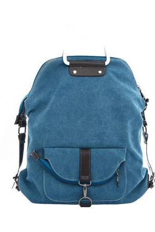 Unique Blue Multi-function Shoulder Canvas Backpack