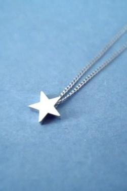 shoot the star, silver star necklace
