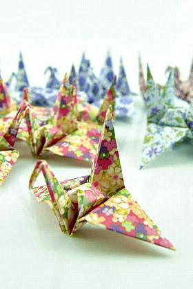set of 50 origami paper cranes 10cm*10cm, colorful origami paper,home and wedding decorationcustom orders welcome --- Mixed Color