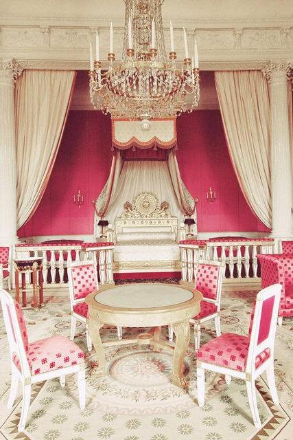 Princess Pink Chambers - Versailles - Paris - Pink White - Fine Art Travel Photography 8x10'