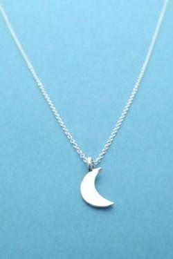 Twilight, Crescent, half moon, sterling silver, necklace