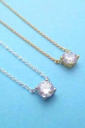 Simple Cubic, Goldfilled, Sterling silver, Dainty, Elegant, Necklace