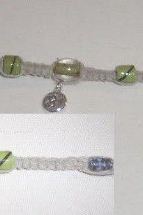 Green Moonlight Hemp Necklace
