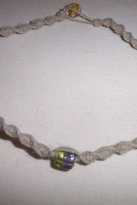 Half and Half Hemp Necklace