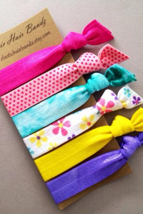 The Jane Collection - 6 Elastic Hair Ties by Elastic Hair Bandz on Etsy