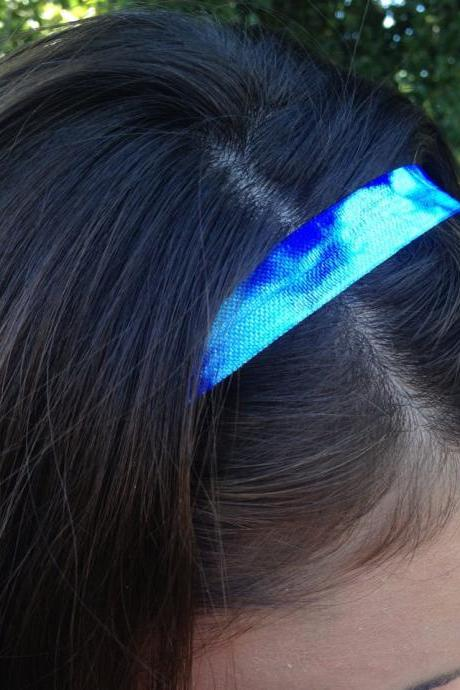 1 Tie Dye Elastic Headband - Fold Over Elastic of Your Color Choice by Elastic Hair Bandz on Etsy