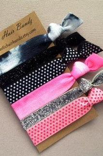 The Stella Hair Tie Collection - 6 Elastic Hair Ties by Elastic Hair Bandz on Etsy