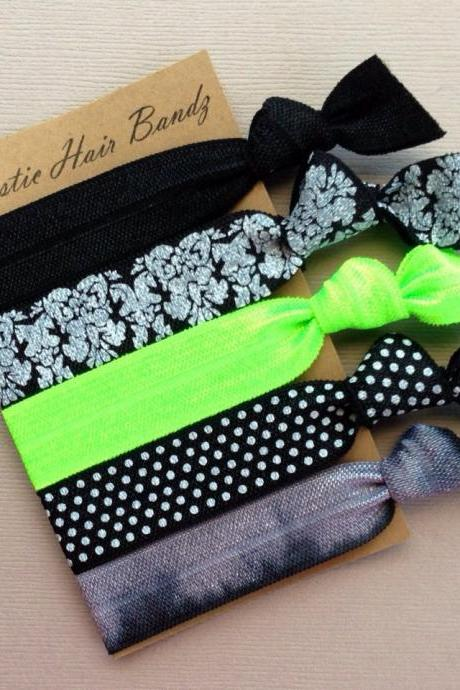 The Lime Sophisticated Hair Tie Ponytail Holder Collection - by Elastic Hair Bandz on Etsy