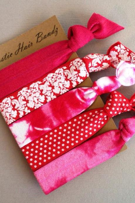 The Reid Hair Tie-Ponytail Holder Collection - 5 Elastic Hair Ties by Elastic Hair Bandz on Etsy