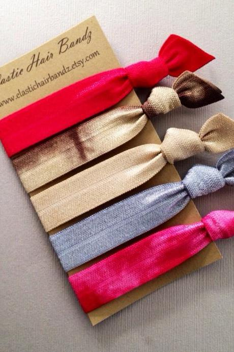 The Audrey Collection Hair Ties-Ponytail Holders by Elastic Hair Bandz on Etsy