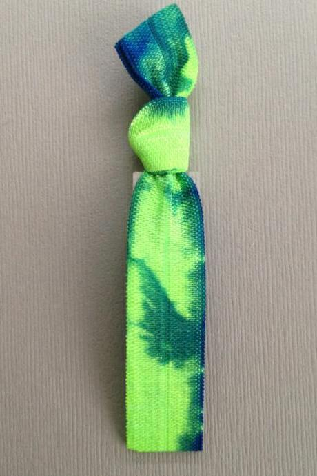 1 Lime-Sky Tie Dye Hair Tie by Elastic Hair Bandz on Etsy