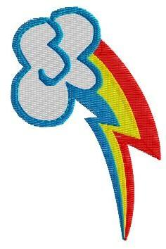 Rainbow Dash Cutie Mark Machine Embroidery Pattern