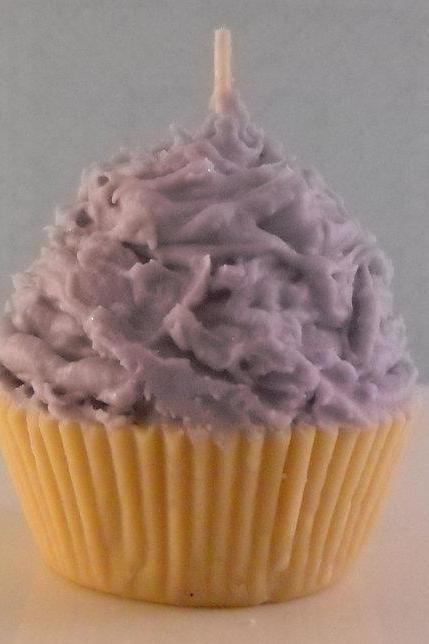 Customized Soy Wax Cupcake Candle you choose color and scent