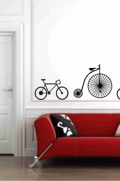 Bicycles Wall Vinyl Decals Sticker