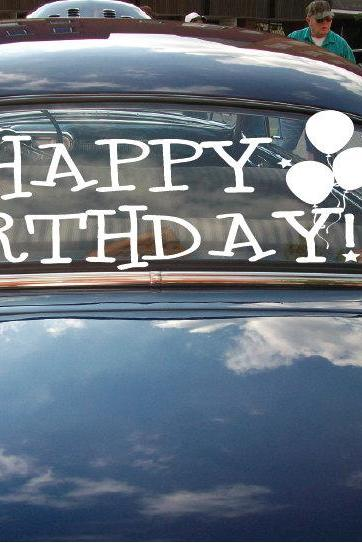 Happy Birthday Car Decals