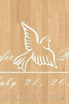 Wedding Dance Floor Decals Wedding Dove
