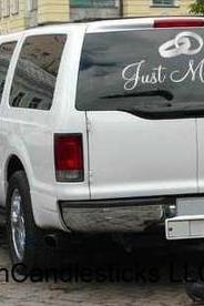 Wedding Getaway Car Decals-Just Married Wedding Rings